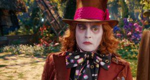 "Johnny Depp in Tim Burton's ""Alice through the looking glass"""