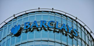 Barclays' stock price