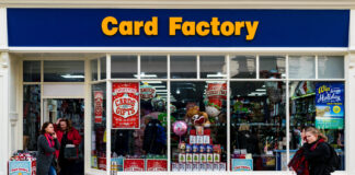 card factory shop outside
