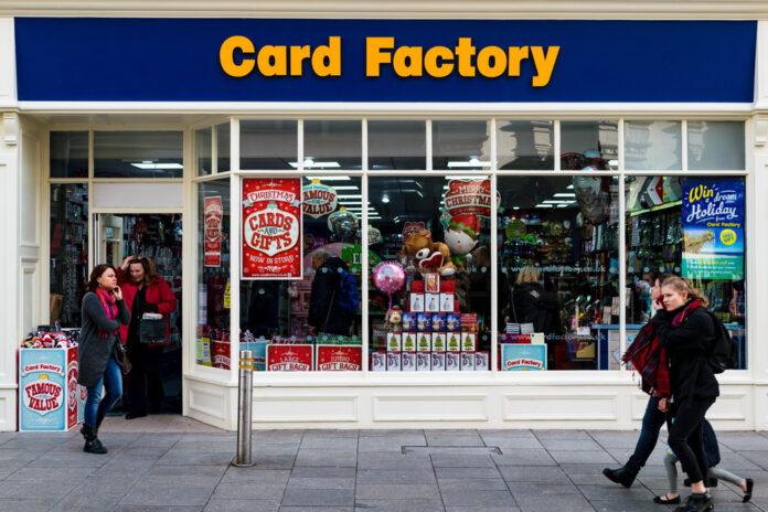 card factory shop outside